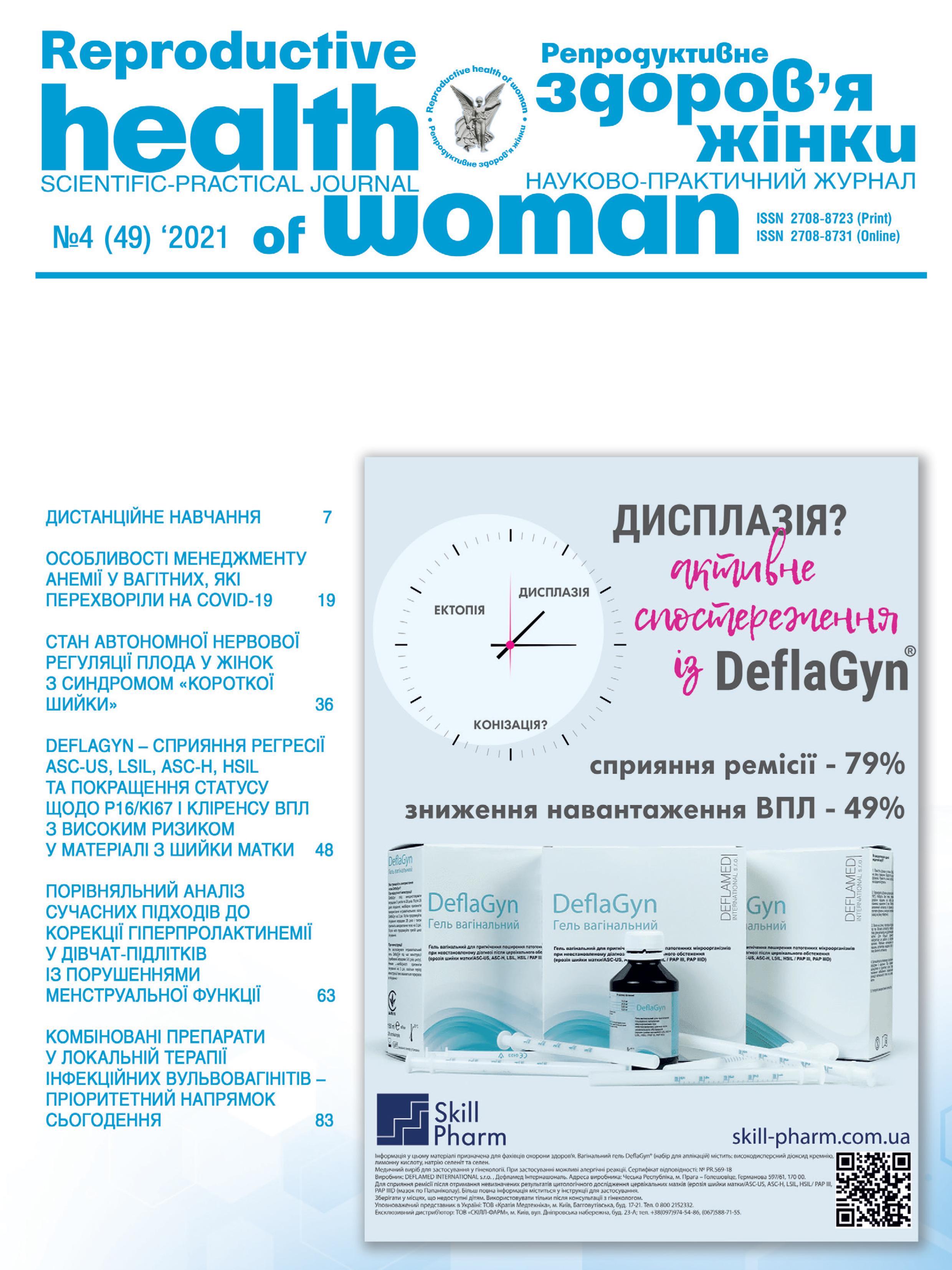 Репродуктивне здоров'я жінки Том 4 (2021)